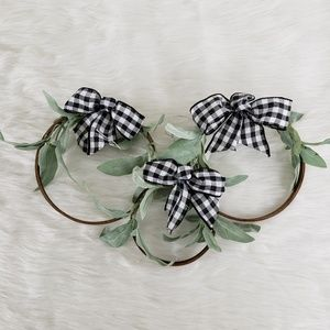 Hand crafted Petite wreath set of 3
